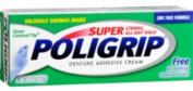 2 Pack - SUPER POLIGRIP Denture Adhesive Cream Artificial Flavour/Colour Free 20ml
