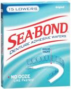 SEA-BOND Denture Adhesive Wafers Lowers Original 15 Each