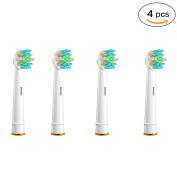 Genkent 4 Pcs Replacement Toothbrush Heads for Oral-B Floss Action