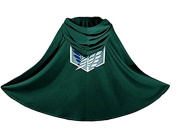 HENGSONG Green Attack On Titan Cosplay Cape Costumes Cloak Cape Halloween Party Cosplay Dress