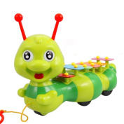 Children Kids Toy Musical Instrument Xylophone Caterpillar 6 x Notes Yellow