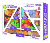 Food pyramid, set of 120 pieces