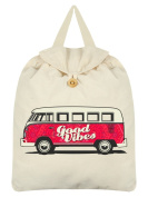 Good Vibes Festival Backpack Cream 35x41cm