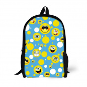 ThiKin School Bag Backpack for Girls Happy Emoji Pattern Kids Backpack