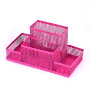 Mesh Pen Holder, SHOBDW Metal Mesh Home Office Pen Pencils Holder Desk Stationery Storage Organiser Box
