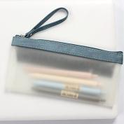 iTemer 4/Set Simple Transparent Pencil Case, Fashion Zipper PU Pencil Bag Makeup Coin Storage Pouch
