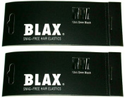 BLAX Black Snag-Free Hair Elastics - 2mm-12ct - 2 Pack…