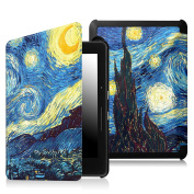 Fintie SmartShell Case for Kindle Voyage - [The Thinnest and Lightest] Protective PU Leather Cover with Auto Sleep/Wake for Amazon Kindle Voyage (2014), Starry Night