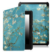 Fintie SmartShell Case for Kindle Voyage - [The Thinnest and Lightest] Protective PU Leather Cover with Auto Sleep/Wake for Amazon Kindle Voyage (2014), Blossom