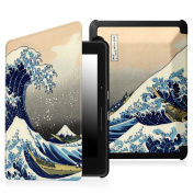 Fintie SmartShell Case for Kindle Voyage - [The Thinnest and Lightest] Protective PU Leather Cover with Auto Sleep/Wake for Amazon Kindle Voyage (2014), Rough Sea
