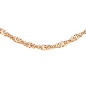 Carissima Gold 9 ct 2 Colour Gold, Red and White Twist Curb Chain