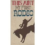 RITZ Rodeo Horse Chambray Tea Towel