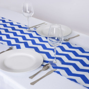 BalsaCircle Chevron Satin Table Runners Wedding Party Catering Reception Decorations