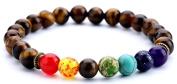 HCHIDS Men Women 8mm Lava Rock Chakra Beads Bracelet Elastic Natural Stone Yoga Bracelet Bangle ¡