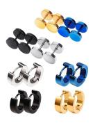 Mudder Screw Stud Earrings Hypoallergenic Hoop Piercings, 8 Pairs