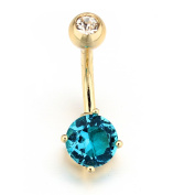 VCMART 316L Surgical Steel Rhinestone Belly Ring Dangle 14G Navel Ring