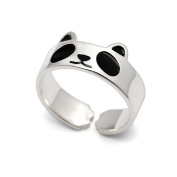 HANFLY Panda ring 925 Sterling silver Fashion Animal Jewellery Adjustable Size