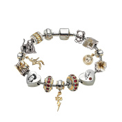 The Bradford Exchange 'Legend of Elvis' - Charm Bracelet - With 18 Carat Gold Plating and Crystals