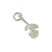 Sayers London 9ct White Gold Rose Charm
