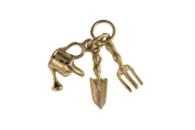 Solid 9ct Yellow Gold Gardening Tools Charm