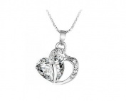 Liroyal Charming Plated Heart Pendant Necklace