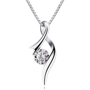 B.Catcher Necklaces 925 Sterling Silver Pendant Necklaces Twist Heart Jewellery