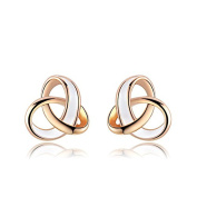 ROXI Women's Elegant Rose Gold Plated Drop of Water Oil Tricyclic Earrings