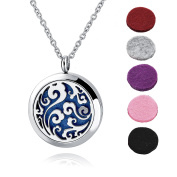 Long Way Tree of Life 316L Stainless Steel Essential Oil Diffuser Necklace Pendant Jewellery 60cm Chain