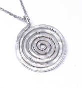 Arfasatti Sterling Silver 925 Pendant Spiral Small Hammered Handmade in Italy