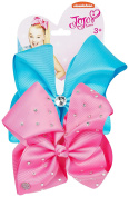JoJo Bows Signature Collection 2 x Large Hair Bows - Variety of Stylish Colours and Designs - Best Present for Your Little Girl