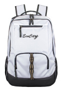 EcoCity Backpack Hiking Daypack Laptop Backpacks School Bag for Men and Women,BP0152W1,White