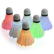 LED Badminton, ESEOE Shuttlecock Dark Night Glow Birdies Lighting for Outdoor Indoor Sports Activities