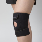 Knee Brace With Open Patella by Calibre Support - Helps Stabilising And Recovery - High Quality Neoprene - Maximum Comfort Fully Adjustable - Compression Sleeve Knee Pad.