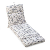 Coral Coast Nautical French Edge 180cm . Outdoor Chaise Lounge Cushion