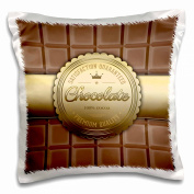 3dRose A Chocolate Bar with a Golden Seal, Pillow Case, 41cm by 41cm