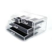 Zimtown Acrylic Makeup Organiser Beauty 4 Drawer Storage Box Holder Cosmetics