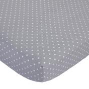 Child of Mine Crib Sheet - Grey Dot print