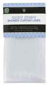 Sultan Linens PEVA Embossed Striped Shower Curtain, Clear