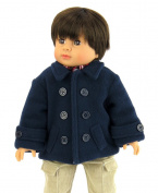 Navy Blue Coat for Boys | Fits 46cm American Girl Dolls, Madame Alexander, Our Generation, etc. | 46cm Doll Clothes