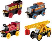 Fisher-Price Thomas & Friends Wooden Railway Wooden Railway Steamies vs. Diesels 4-Pack