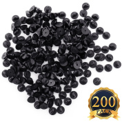 SUBANG 200 Pieces Pin Backs PVC Rubber Pin Keepers, Black