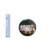Storm Chaser Button Pin Monsoon Tornado Weather Photographer Gift Pinback 2.5cm