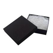 JPI DISPLAY #33 Cotton Filled Boxes, 8.9cm L x 8.9cm W, Matte Black, 100 Count