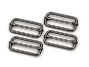 CRAFTMEmore Movable Bar Slide Strap Adjuster Rectangle Strap Keeper Triglide Belt Keeper Purse Making 3.2cm & 3.8cm Pack of 10