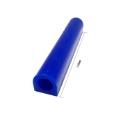 NIUPIKA Carving Wax Ring Tube for Making Rings Mould Hard Wax Blank Large Flat Side Tube Blue Colour