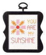 BUCILLA 45740 Counted Cross Stitch Beginner Stitchery Mini Kit, Sunshine