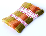 24pcs Embroidery Floss Egyptian long-staple cotton pull strong bright light Cross Stitch Threads Friendship Bracelets Floss