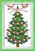 CaptainCrafts New Cross Stitch Kits Patterns Embroidery Kit - Christmas Tree
