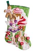 Bucilla 46cm Christmas Stocking Felt Applique Kit, 86714 Sugarland Fairy