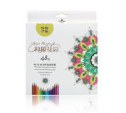 Kasimir Coloured Pencils 48 Premium Pre-Sharpened Watercolour Pencils Set Soft Core for Adults Artists Kids Adult Colouring Book